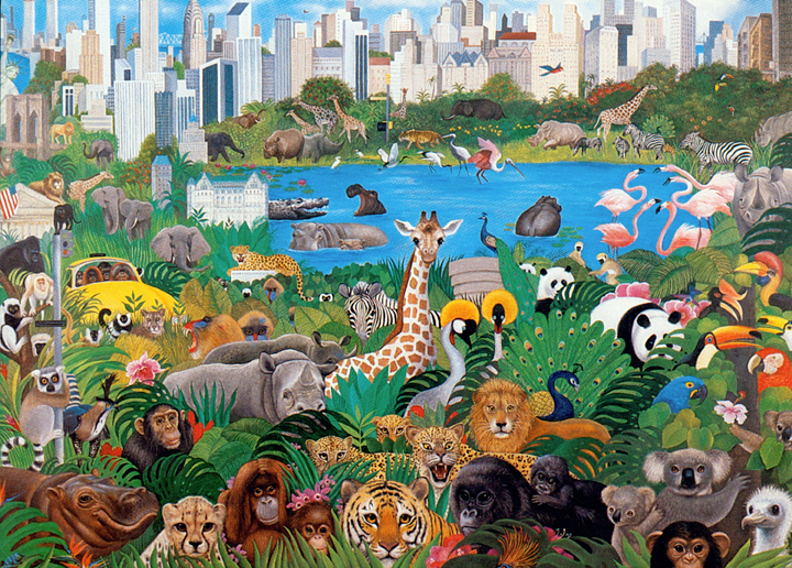 It's A Jungle Out There Serigraph