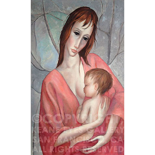 MOTHER AND CHILD LITHOGRAPH