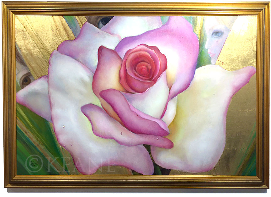 eyes behind the rose