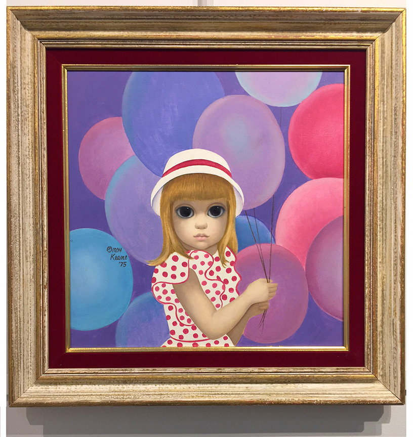 Girl with Balloons Original Framed