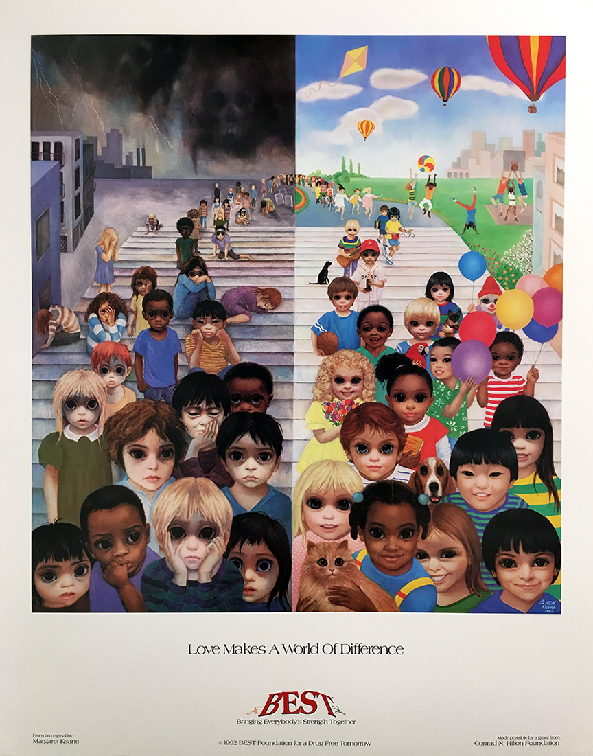 love makes a world of difference poster - 23 x 22 in. (58.4 x 55.9 cm)