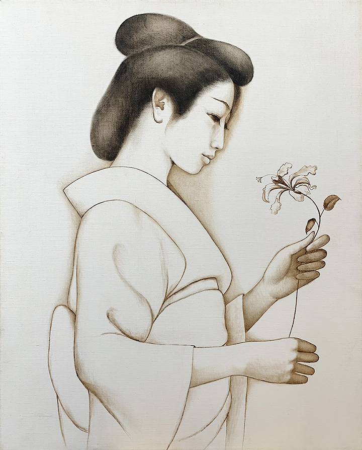 Japanese Princess litho