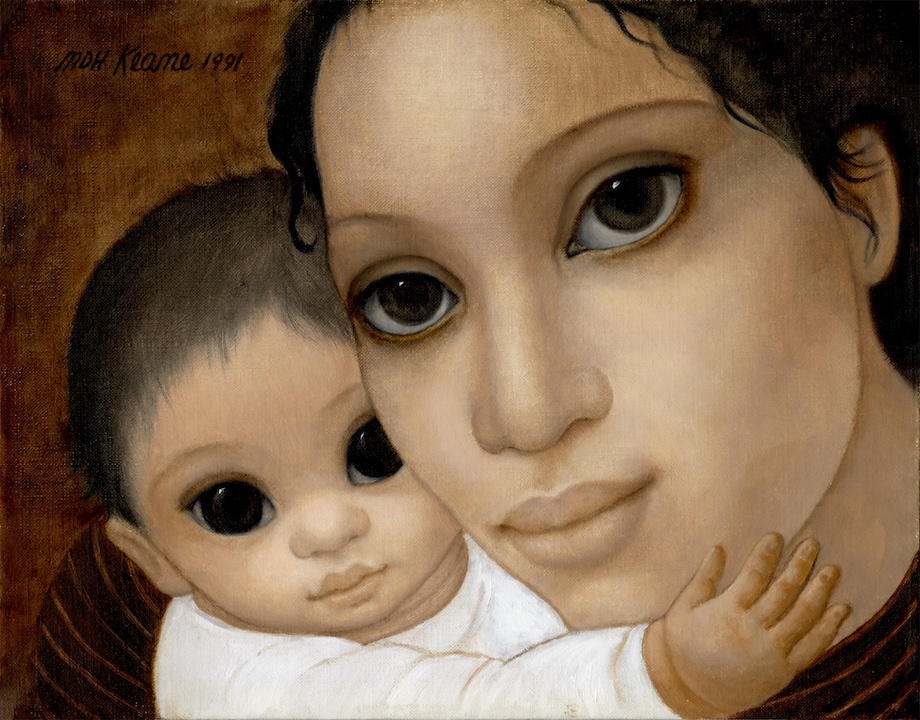 BEIGE MOTHER AND CHILD