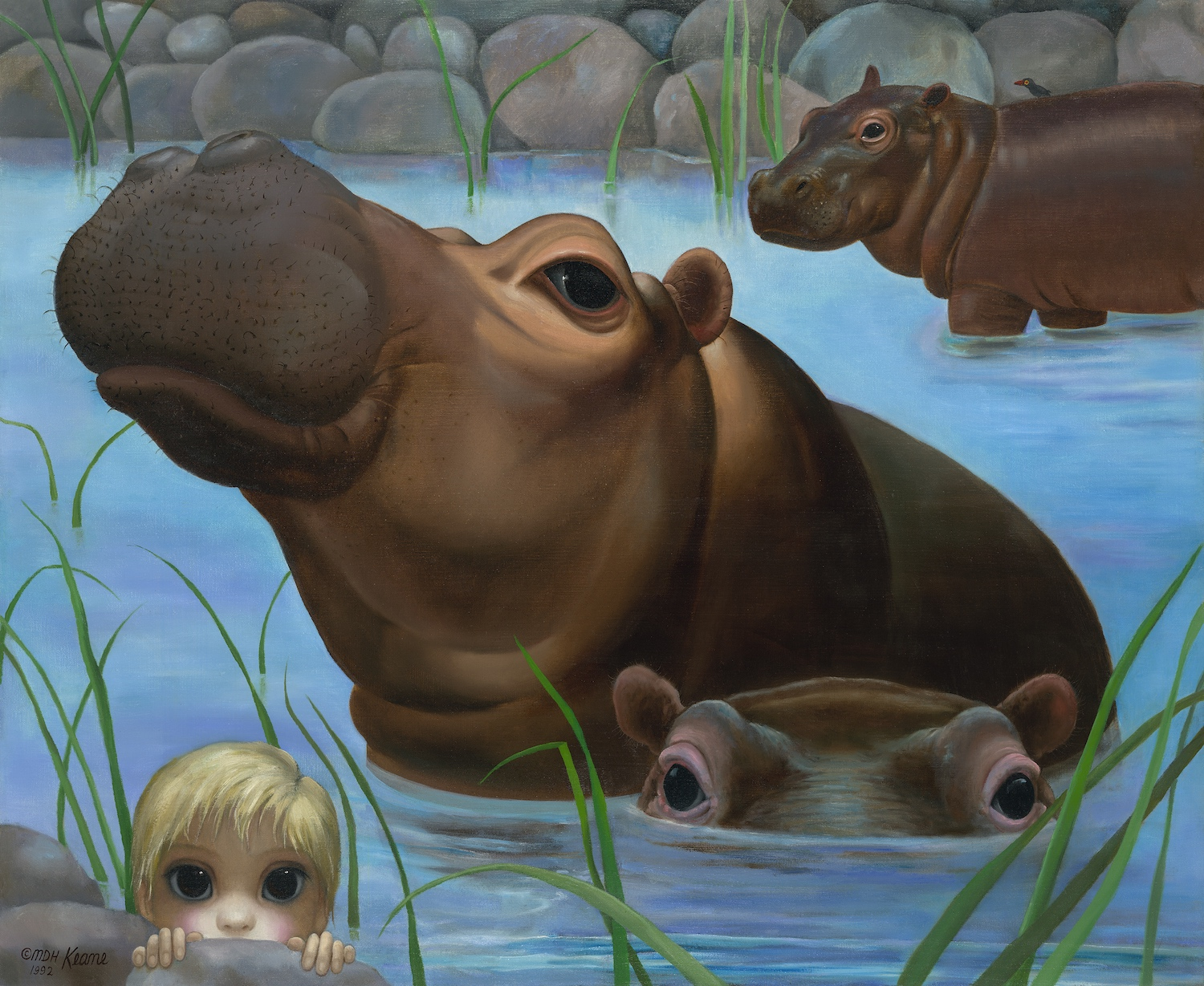 Child with Hippos